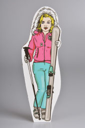 Lady Skier - a paper puppet.