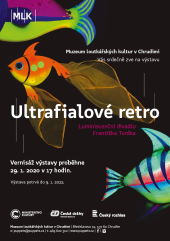 Ultraviolet Retro poster with colourful fish.